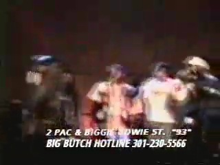 2PAC being BIGGIES HYPEMAN